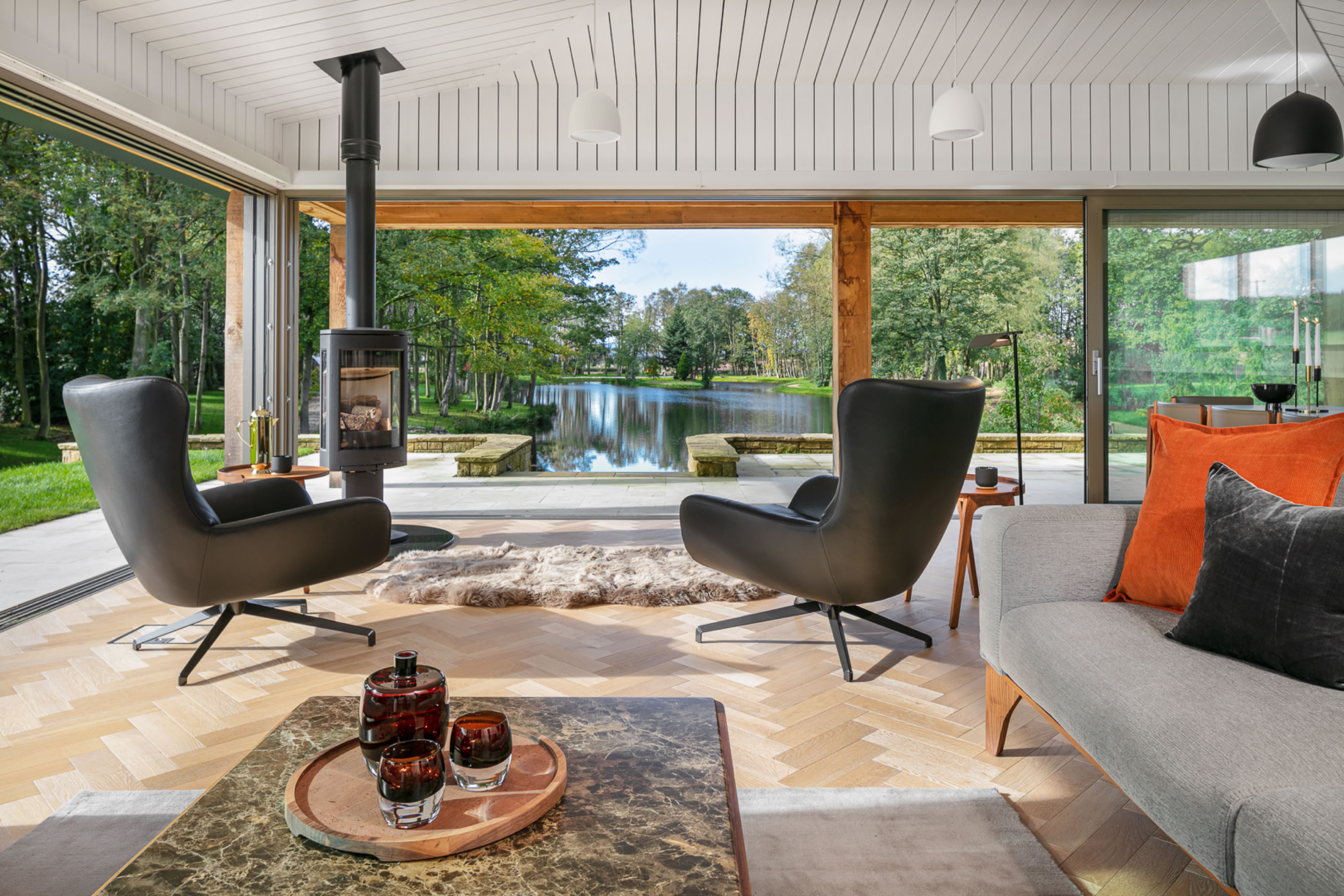 Lakeside Lodge. A project by James Roberts Interior Design Practice